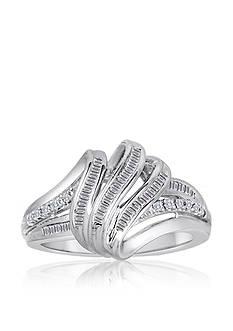Belk & Co. Diamond 3 Bar Open Ring in Sterling Silver