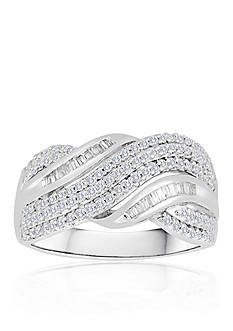 Belk & Co. Diamond Twist Band in Sterling Silver
