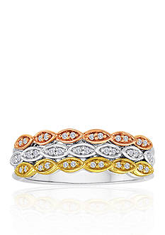 Belk & Co. Diamond Band in 10k Yellow Gold, 10k Rose Gold, and Sterling Silver