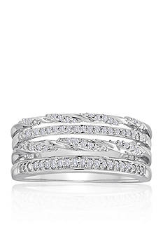 Belk & Co. Diamond Stacked Ring in Sterling Silver
