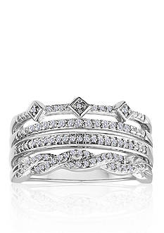 Belk & Co. Diamond Stack Ring in Sterling Silver