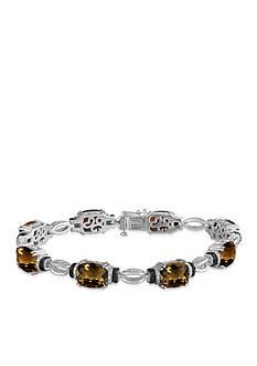 Belk & Co. Smokey Quartz and Diamond Bracelet in Sterling Silver