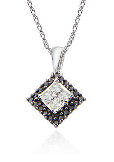 Belk & Co. Black & White Diamond Pendant
