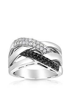 Belk & Co. Diamond Basket Weave Ring in Sterling Silver