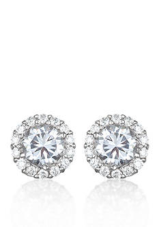 Belk & Co. Platinum-Plated Sterling Silver Cubic Zirconia Stud Earrings