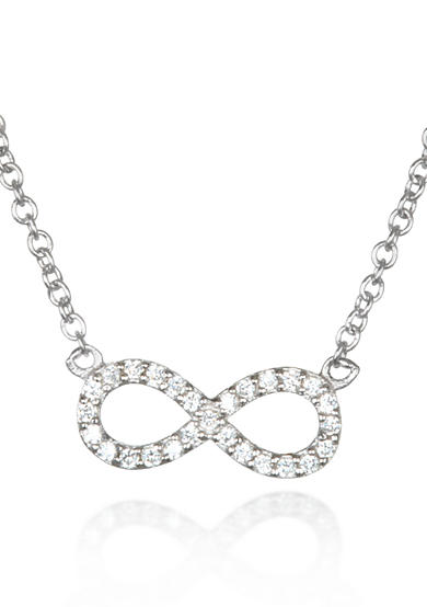 Belk & Co. Platinum-Plated Sterling Silver Cubic Zirconia Infinity Pendant