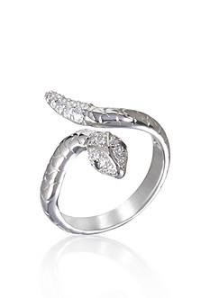 Belk & Co. Platinum-Plated Sterling Silver Cubic Zirconia Snake Ring