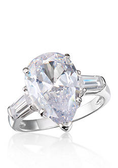 Belk & Co. Platinum-Plated Sterling Silver Cubic Zirconia Ring