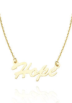 Belk & Co. 14k Yellow Gold East to West Hope Adjustable Necklace