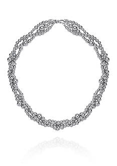 Belk & Co. Sterling Silver Twisted Bead Necklace