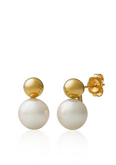 Amour de Pearl 14k Yellow Gold Freshwater Pearl Earrings
