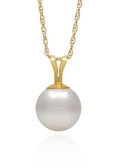 Amour de Pearl 14k Yellow Gold Freshwater Pearl Pendant