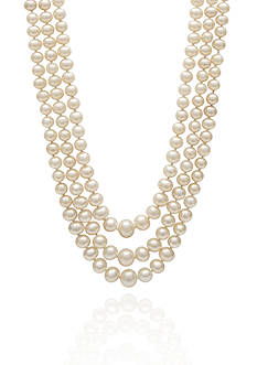 Amour de Pearl Freshwater Pearl Necklace in Sterling Silver