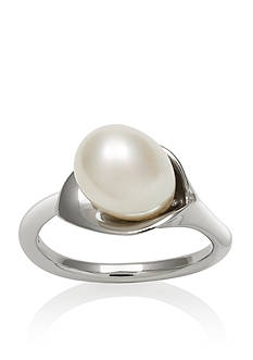 Amour de Pearl Sterling Silver Freshwater Pearl Lily Ring