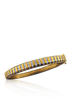 Belk & Co. Diamond Bangle Bracelet in 14k Yellow Gold