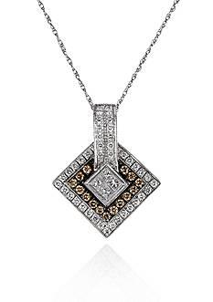 Le Vian Vanilla Diamond® and Chocolate Diamond® Pendant in 14k Vanilla Gold®