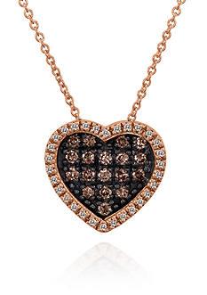 Le Vian Chocolate Diamond® and Vanilla Diamond® Pendant in 14k Strawberry Gold®
