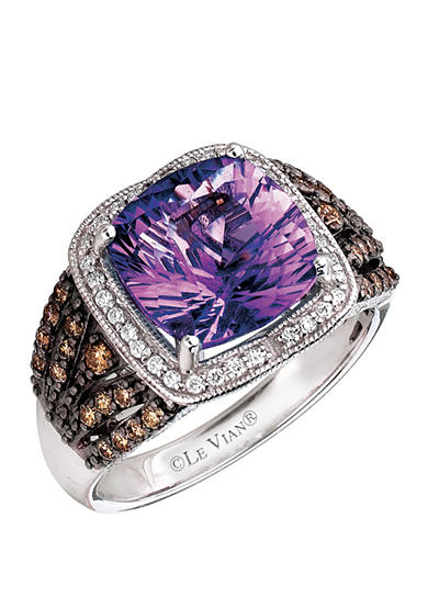 Le Vian® 14k Vanilla Gold™ Candy Colors Amethyst®, Chocolate Diamond® and Vanilla Diamond® Ring