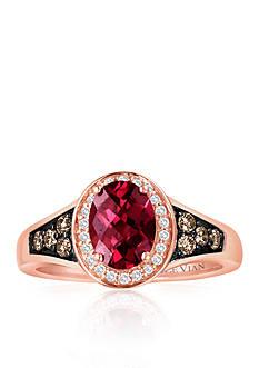 Le Vian 14k Strawberry Gold® Raspberry Rhodolite®, Chocolate Diamond® and Vanilla Diamond® Ring