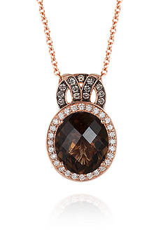 Le Vian Smokey Diamonds Surrounding Chocolate Diamond in 14K Rose Gold