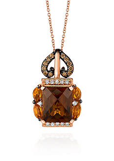 Le Vian® 14k Strawberry Gold® Caramel Quartz™, Cinnammon Citrine®, Chocolate Diamond®, and Vanilla Diamond&#