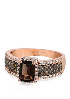 Le Vian 14k Strawberry Gold® Chocolate Quartz®, Chocolate Diamond® and Vanilla Diamond™ Ring