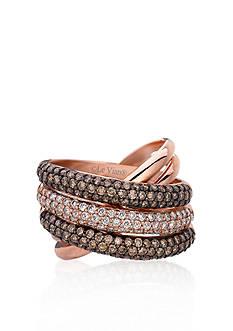Le Vian Chocolate Diamond® and Vanilla Diamond® Band in 14k Strawberry Gold®