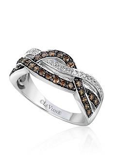 Le Vian® Chocolate Diamond® and Vanilla Diamond® Gladiator® Band in 14k Vanilla Gold®