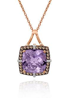 Le Vian 14k Strawberry Gold® Cotton Candy Amethyst®, Chocolate Diamond® and Vanilla Diamond™ Pendant