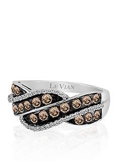 Le Vian® Chocolate Diamond® and Vanilla Diamond® Ring in 14k Vanilla Gold®