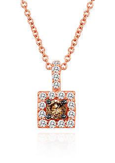 Le Vian® Vanilla Diamond® and Chocolate Diamond® Pendant in 14k Strawberry Gold®