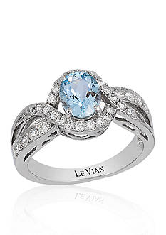 Le Vian Sea Blue Aquamarine® and Vanilla Diamond® Ring in 14k Vanilla Gold®