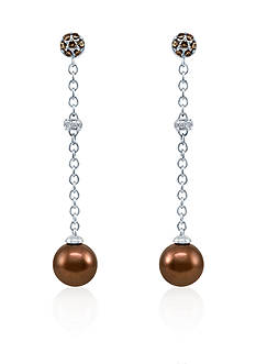 Le Vian® Chocolate Pearl®, Chocolate Diamond® and Vanilla Diamond® Earrings in 14k Vanilla Gold®