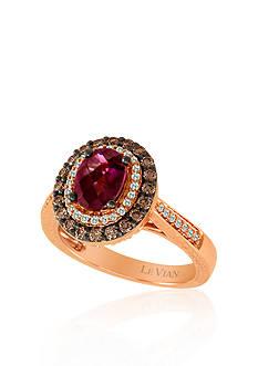 Le Vian 14k Strawberry Gold® Raspberry Rhodolite®, Chocolate Diamond® and Vanilla Diamond™ Ring