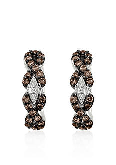 Le Vian® Chocolate Diamond® and Vanilla Diamond® Earrings in 14k Vanilla Gold®
