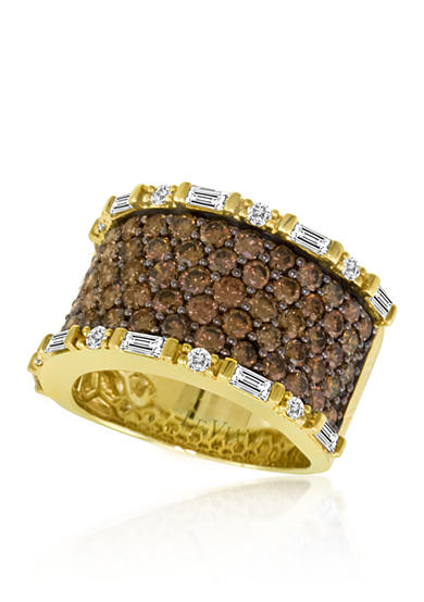 Le Vian® Chocolate Diamond and Vanilla Diamond Band Ring in 14k Honey Gold