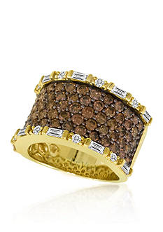 Le Vian® Chocolate Diamond and Vanilla Diamond Band Ring in 14k Honey Gold