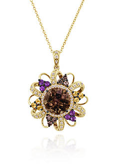 Le Vian® Candy Colors Amethyst®, Chocolate Diamond®, Vanilla Diamond®, and Cinnamon Citrine® Pendant in 14k H