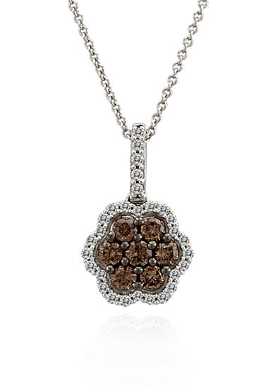 Le Vian® Chocolate Diamond® and Vanilla Diamond™ Flower Pendant in 14k Vanilla Gold™