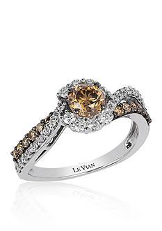 Le Vian® Chocolate Diamond and Vanilla Diamond Cluster Ring in 14k Vanilla Gold