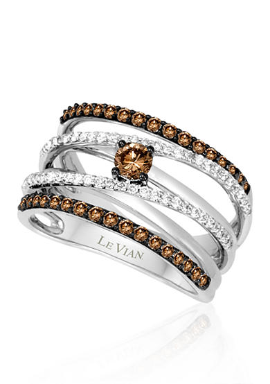 Le Vian® Chocolate Diamond® and Vanilla Diamond® Band in 14k Vanilla Gold®
