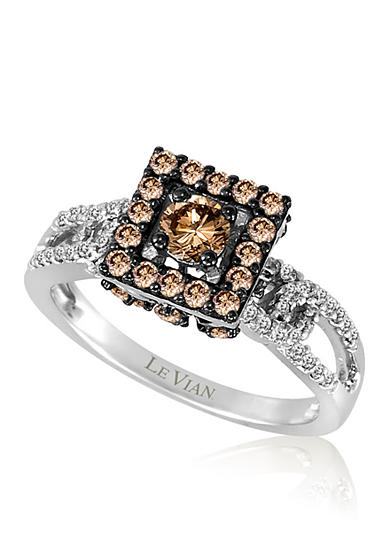 Le Vian® Chocolate Diamond® and Vanilla Diamond® Ring in 14k Vanilla Gold®