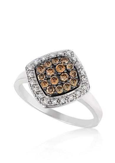 Le Vian® Vanilla Diamond and Chocolate Diamond Ring in 14k Vanilla Gold