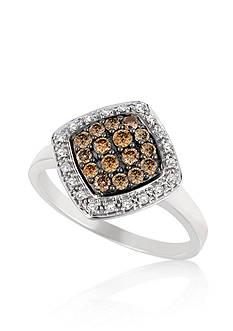 Le Vian® Vanilla Diamond and Chocolate Diamond Ring in 14k Vanilla Gold