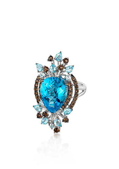 Le Vian® Ocean Blue Topaz™, Vanilla Topaz™ and Chocolate Quartz® Ring in 14k Vanilla Gold®