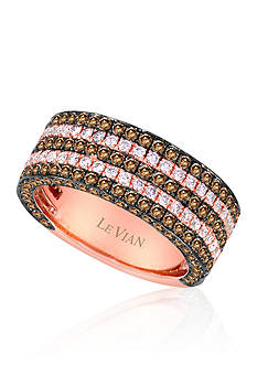 Le Vian® Vanilla Diamond® and Chocolate Diamond® Ring in 14k Strawberry Gold®