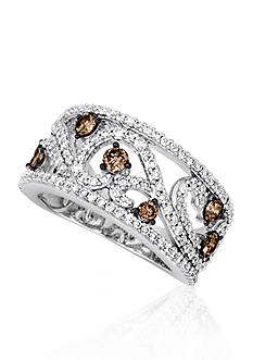 Le Vian Vanilla Diamond® and Chocolate Diamond® Ring in 14k Vanilla Gold®
