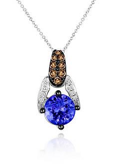 Le Vian® Blueberry Tanzanite®, Chocolate Diamond®, and Vanilla Diamond® Accent Pendant in 14k Vanilla Gold®