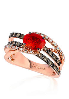 Le Vian® 14k Strawberry Gold® Neon Tangerine Fire Opal®, Chocolate Diamond®, and Vanilla Diamond® Band