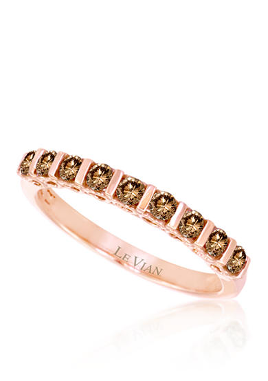 Le Vian® Chocolate Diamond® Band in 14k Strawberry Gold®